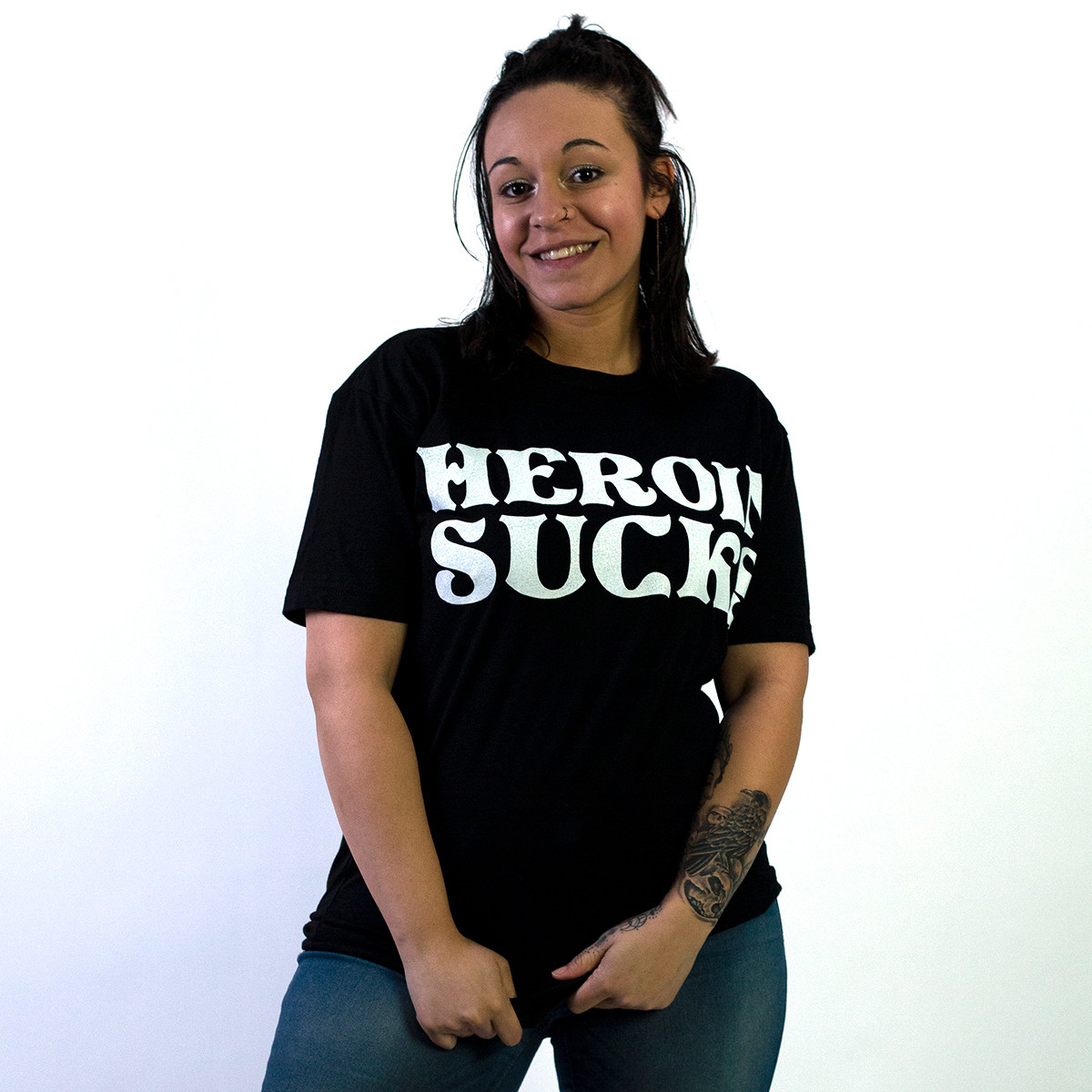 Heroin Sucks Tee