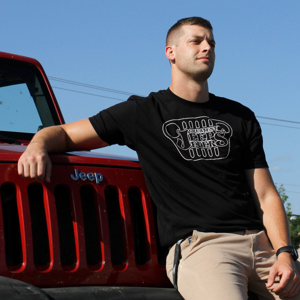Greatest Jeeps Ever Black Logo Tee