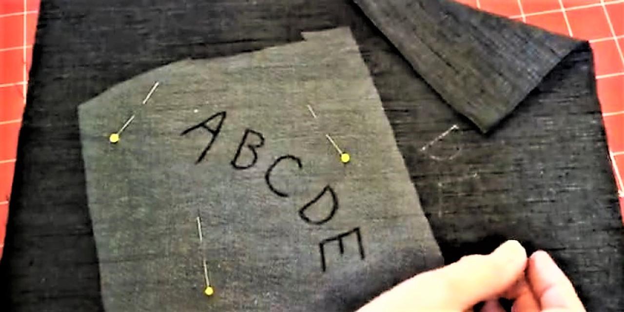 Tracing onto Dark Fabric