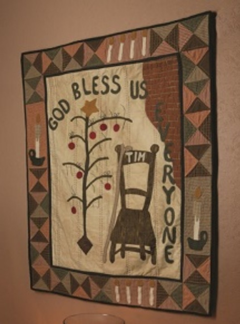 God Bless Us, Every One Tonee White Quilt pattern