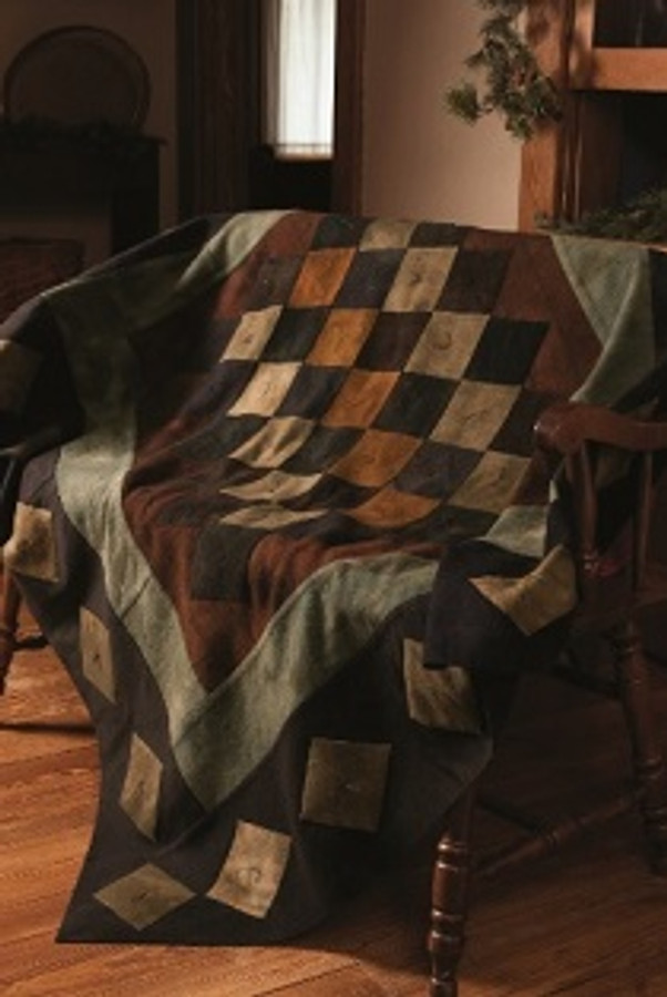 Jan Goose Diamond in the Rough Wool Quilt