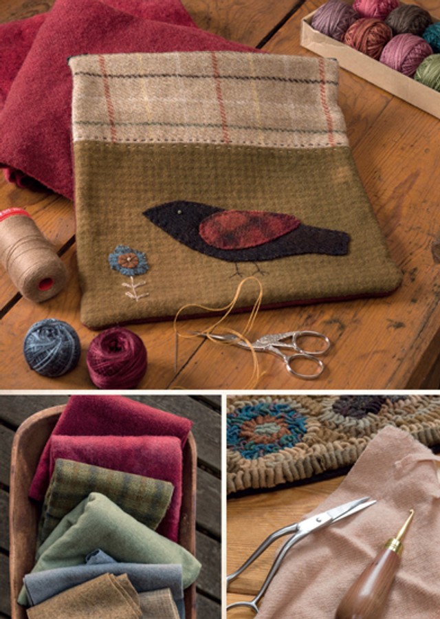 Primitive Style Folk-Art Quilts and Other Finery