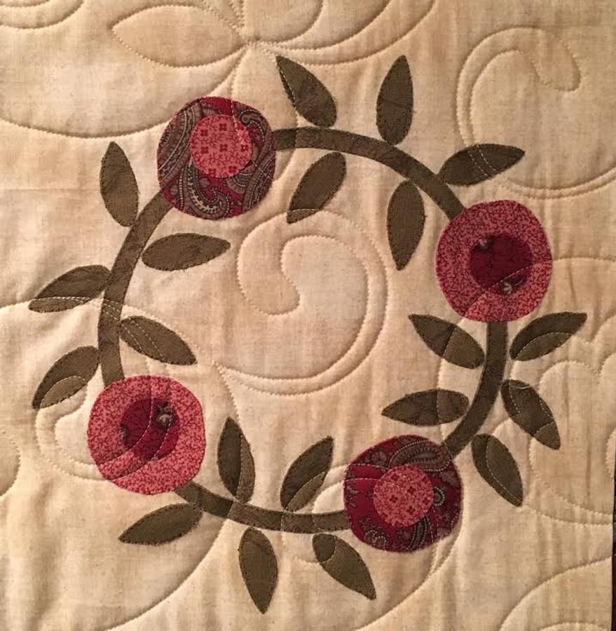 Garden Wreaths, by Jenifer Gaston (Macular Degeneration Quilt)