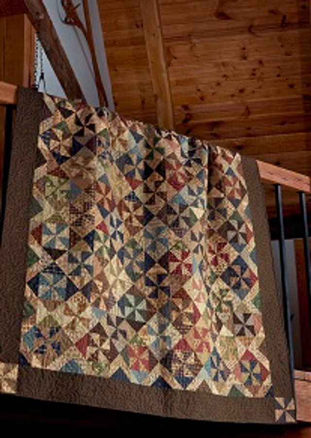 Country Pinwheel Paula Barnes Red Crinoline Quilts Bonnie Blue Quilts (formerly)