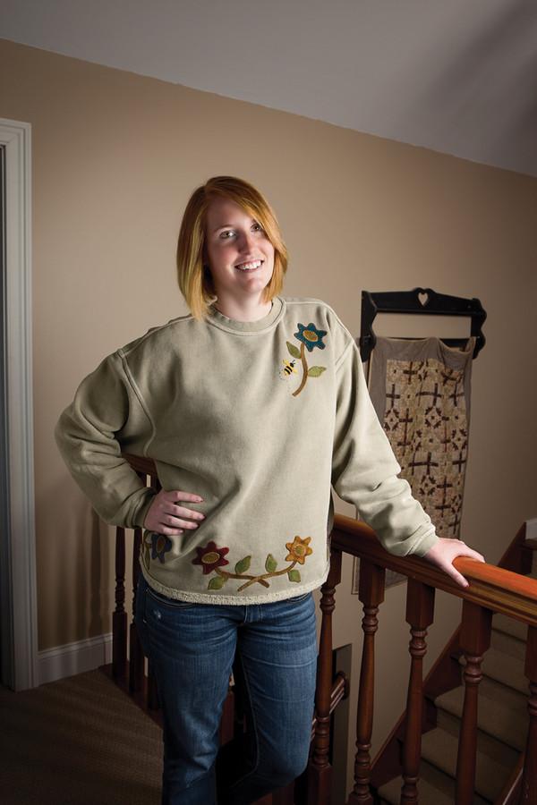 Wool Applique Sweatshirt by Lisa Bongean