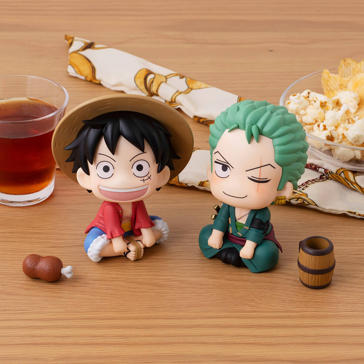 MegaHouse Monkey D. Luffy & Roronoa Zoro One Piece Look Up Series Figure (With Gift)