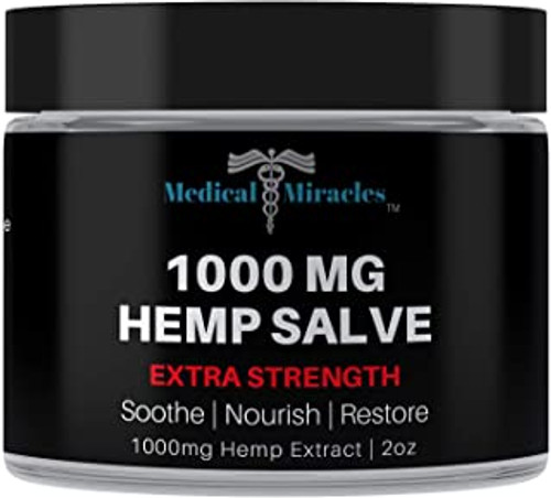 All Natural Extra Strength Hemp Healing Salve - 1000mg