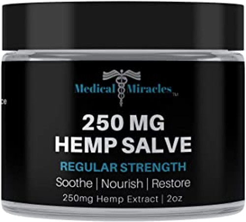 All Natural Regular Strength Hemp Healing Salve - 250mg