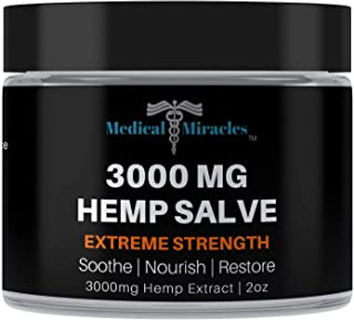 All Natural Extreme Strength Hemp Healing Salve - 3000mg