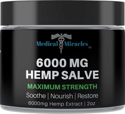 All Natural Maximum Strength Hemp Healing Salve - 6000mg