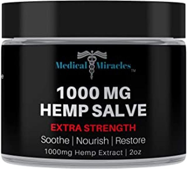 All Natural Extra Strength Hemp Healing Salve - 1000mg