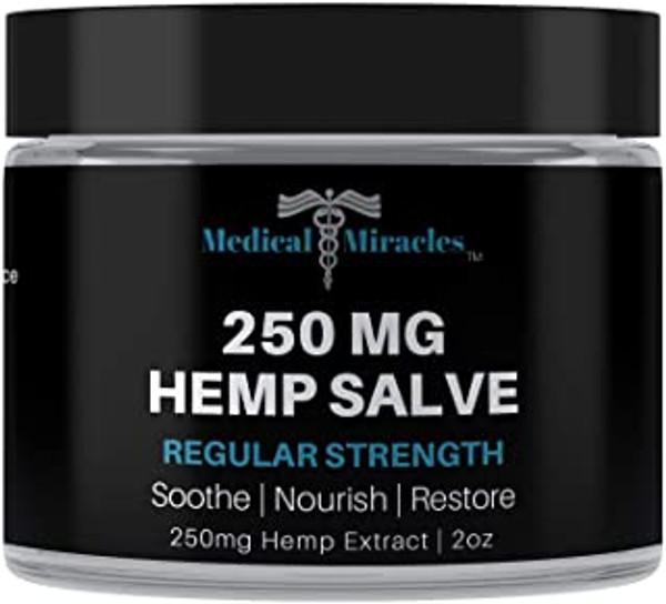 All Natural Regular Strength Hemp Healing Salve - 250mg