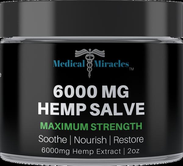 All Natural Maximum Strength Hemp Healing Salve - 6000mg