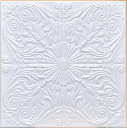 Astana Foam Ceiling tile in white.