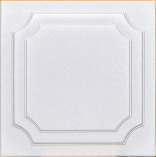 Yalta White decorative foam ceiling tile