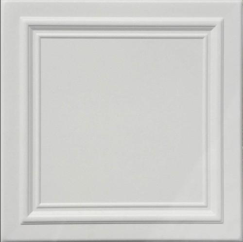 White Zeta White Foam Decorative Ceiling Tile