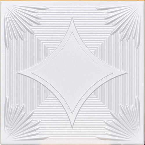 Yerevan White Foam Decorative Foam Ceiling Tiles