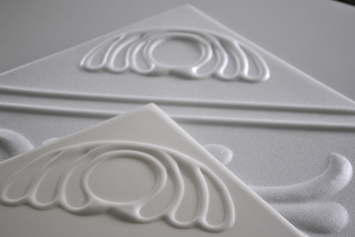 Anet Foam Ceiling Tiles, Anet White, Anet Antique White