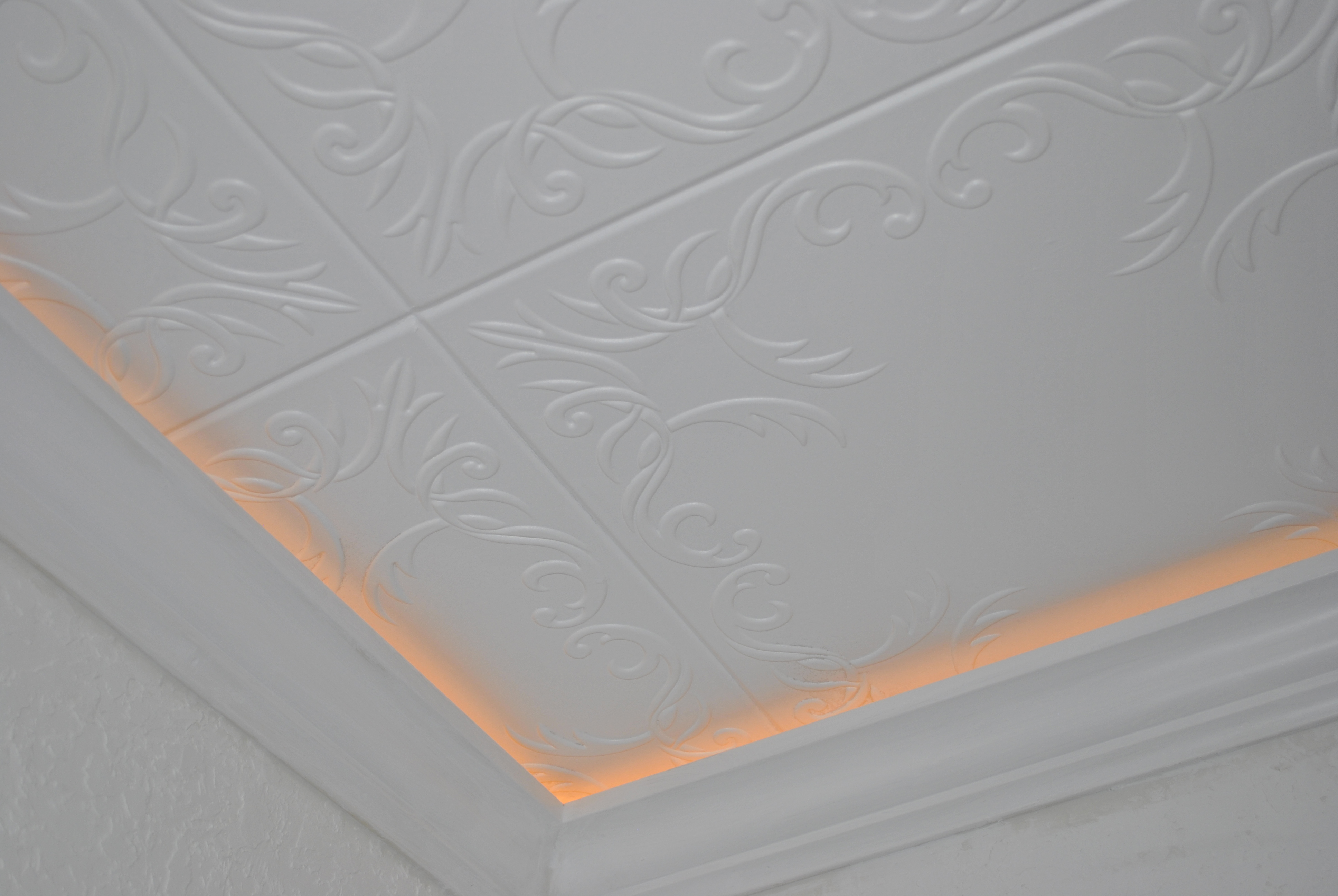 Roven Foam Ceiling Tile installed in a kitchen