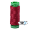 270 colours available on 150m (164 yards) spools. •The 40 weight t range is a versatile, all-purpose thread. Long-Arm quilters love how it can run at high speeds with           little to no breakage.  •This is a high quality 100% Cotton thread, making it ideal for all forms machine work whether it is on Applique, for          Quilting, Machine Piecing or Long-arm Quilting. •Perfect for that small project, ideal for Cross stitching, Hand Piecing and work with Lace.