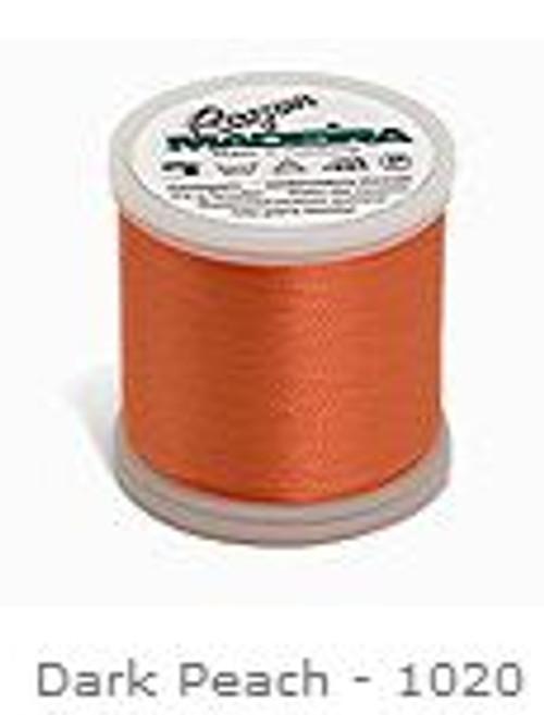 1020 Dark Peach Madeira Machine Embroidery Rayon 200m Thread