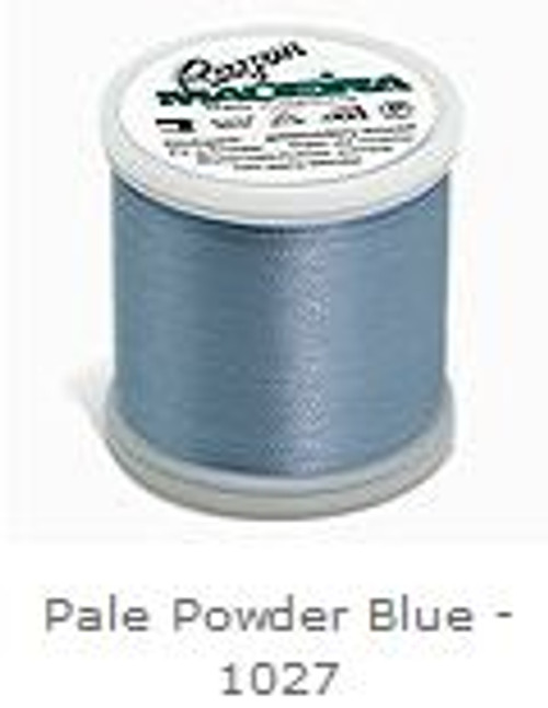 1027 Pale Powder Blue Madeira Machine Embroidery Rayon 200m Thread