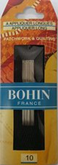 When you require a needle for hand appliquing, Bohin has the perfect solution. These Applique needles are longer and more thinner than your normal general purpose needles which is what you need when undertaking hand Appliquing projects. This minimizes the hole size and end result is a smooth edged finish to your piece.