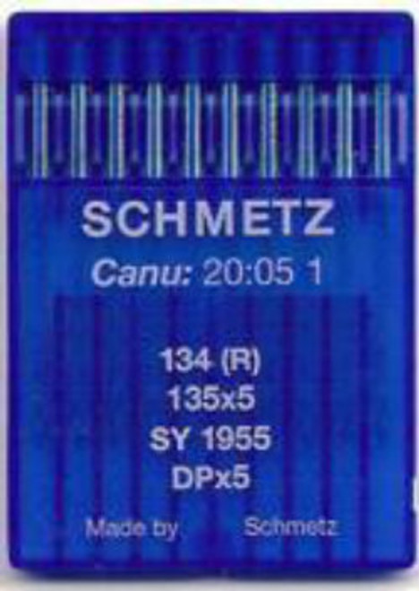 Schmetz Industrial Needles primarily used in Plain Sewers.  10 needles per slide - Sold per slide.  Regular Point available in all sizes listed  Light Ball Point Needles (SES) available sizes 60/8, 65/9, 70/10, 75/11, 80/12, 90/14, 100/16, 110/18, 120/19 and 130/22.  Medium Ball Point Needles (SUK) available in sizes 70/10, 80/12, 90/14, 100/16, 110/18.