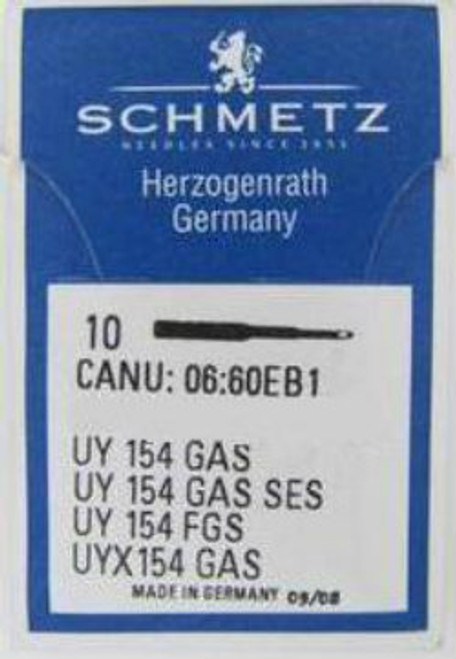 Schmetz Industrial Needles primarily used in Overlocking Machines  Serves as both standard regular and ball point with 10 needles per slide.