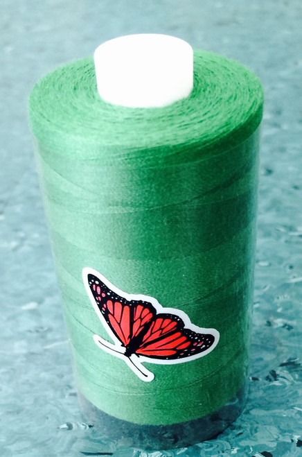Article PS120, 1000 metres This is a 2 ply thread with a 40/2 thread count. Ideal for over-locking and general sewing.  Available in 34 colours on 1000m spools. Sometimes called Butterfly Thread. Black, White, Natural, Mid Grey and Navy available on 5000m cones
