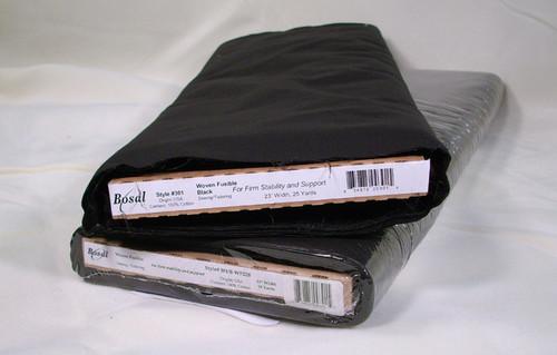 """Bosal 301 Fashion Fuse - Black 20"""" x 25yds"""