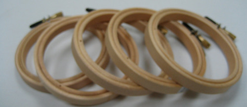 """NEH3-N 3"""" Round Edge Wood Depth 10mm    Suitable for small embroidery pieces or for small hoop art displays."""
