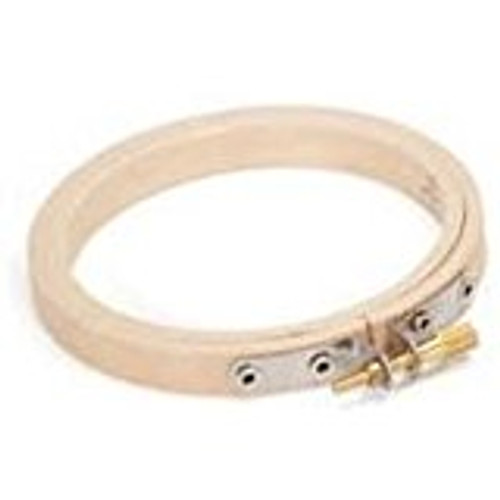 """CNEH4-N 4"""" Rnd Edge Wood Depth 10mm   Suitable for small embroidery pieces or for small hoop art displays."""