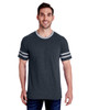 602MR Jerzees Adult Tri-Blend Varsity Ringer Tee  (Black Heather/Oxford)