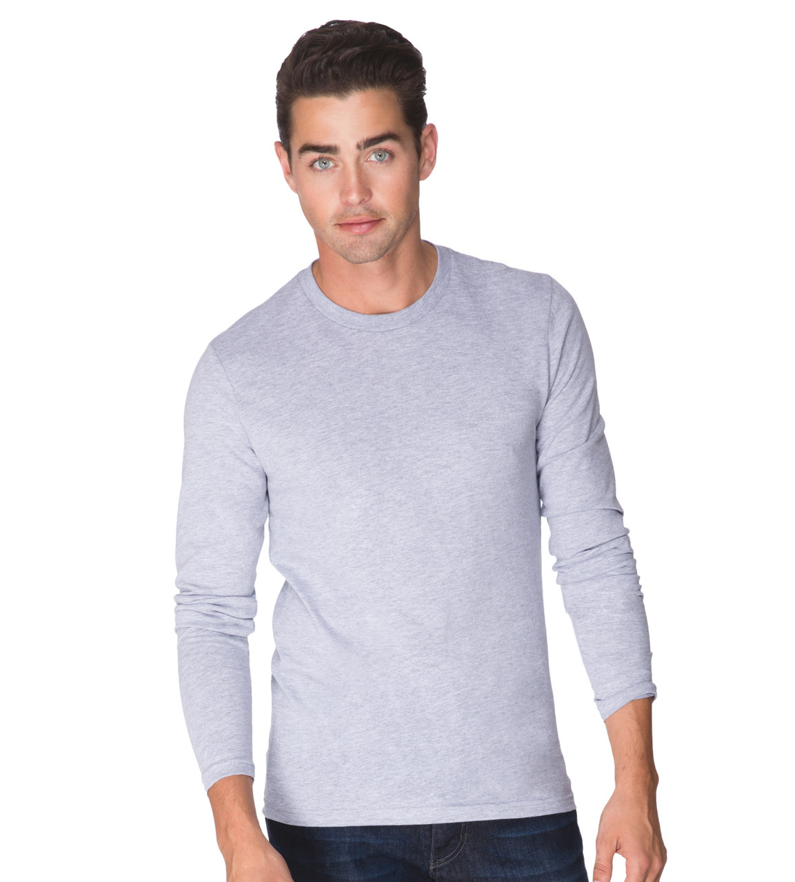 cf81a9031056 Next Level 3601 - Men's Fitted Long Sleeve Cotton T-Shirt ...