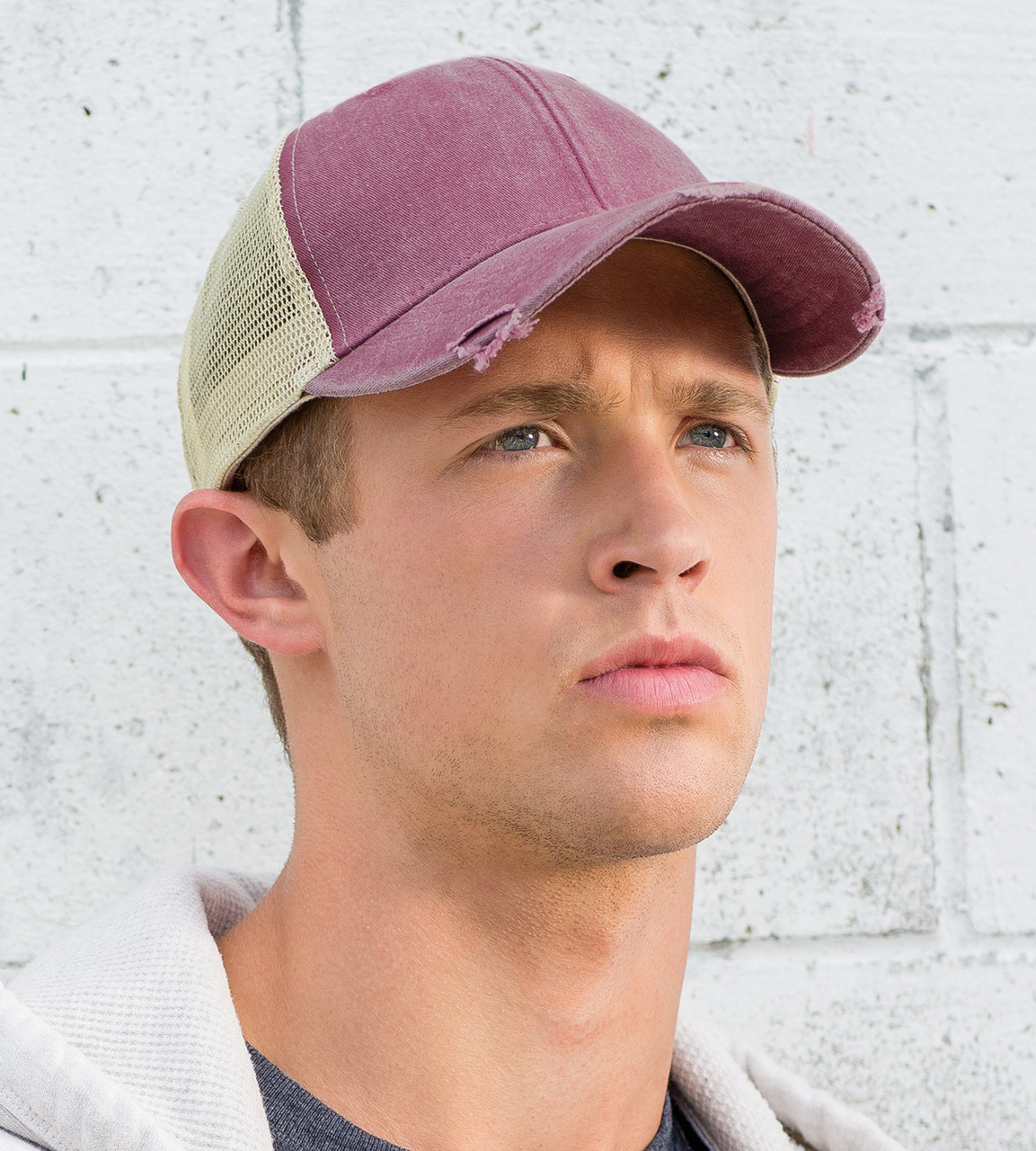 175f275f9 Adams OL102 Ollie Pigment Dyed Distressed Cap
