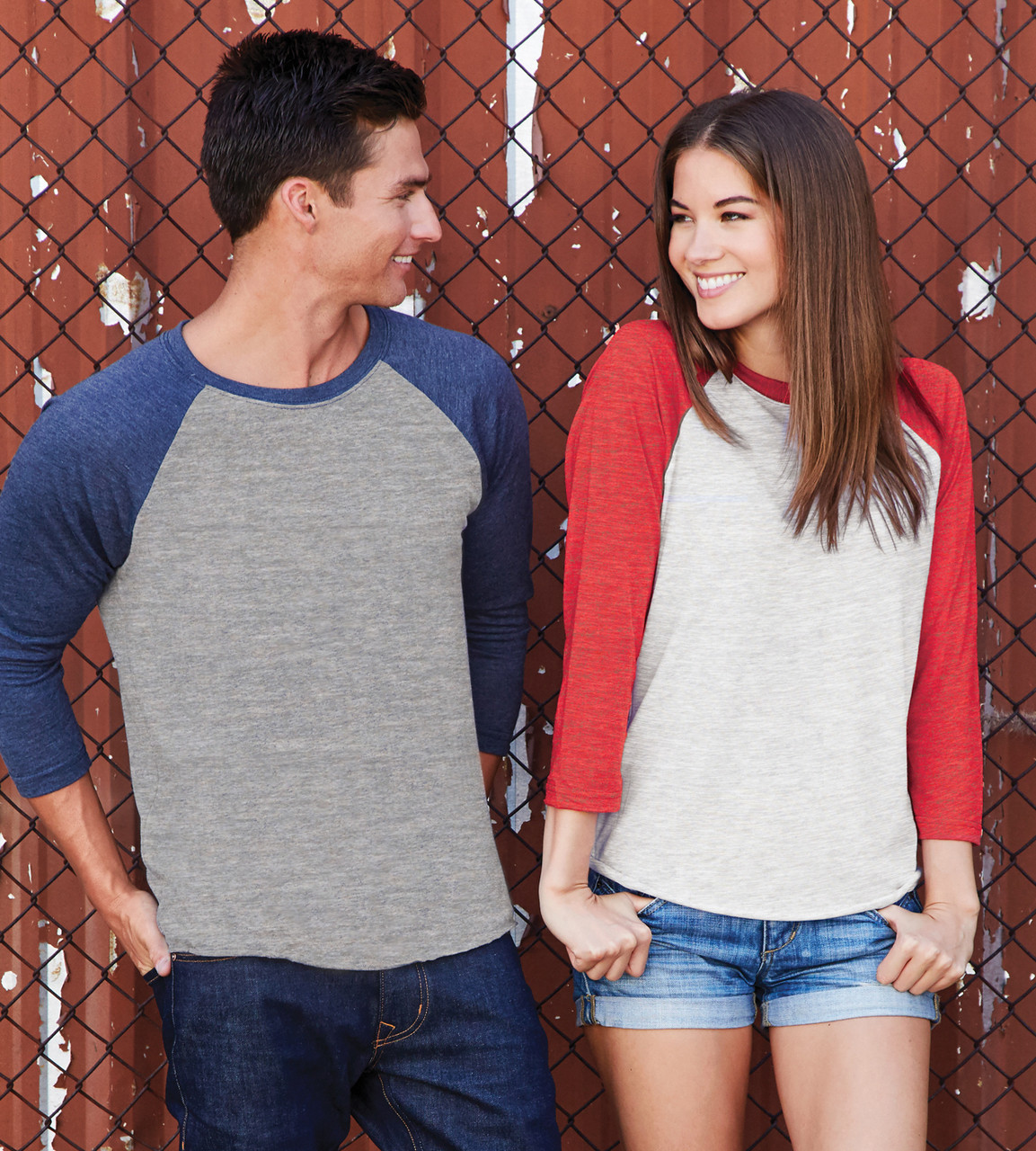 165eba2219e 6051 NEXT LEVEL UNISEX TRI-BLEND 3 4 SLEEVE RAGLAN ...