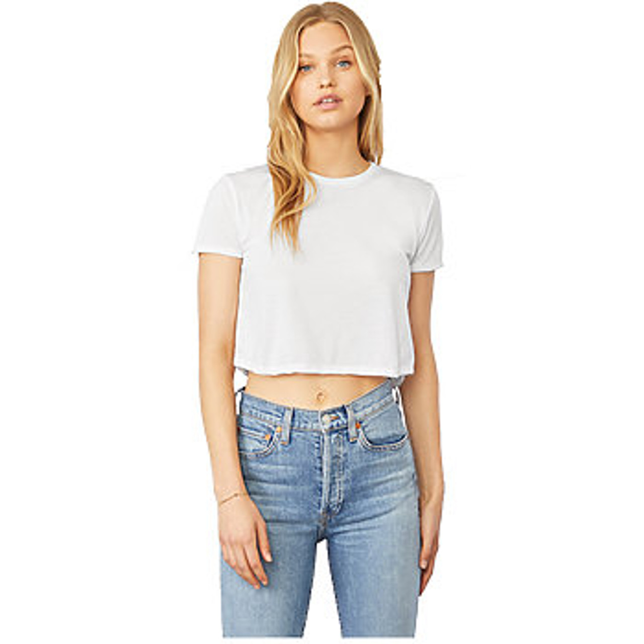 7055f79e573 ... 8882 - White · 8882 Size Guide. Previous. 8882 Bella + Canvas Women's  Flowy Cropped Tee ...