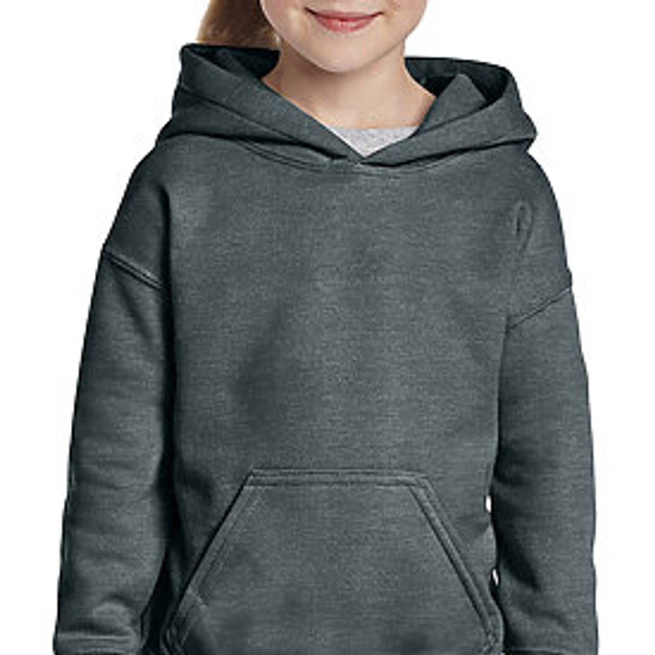 Gildan Youth Heavyweight Blend Hooded Sweatshirt in Sport Grey X-Large 18//20