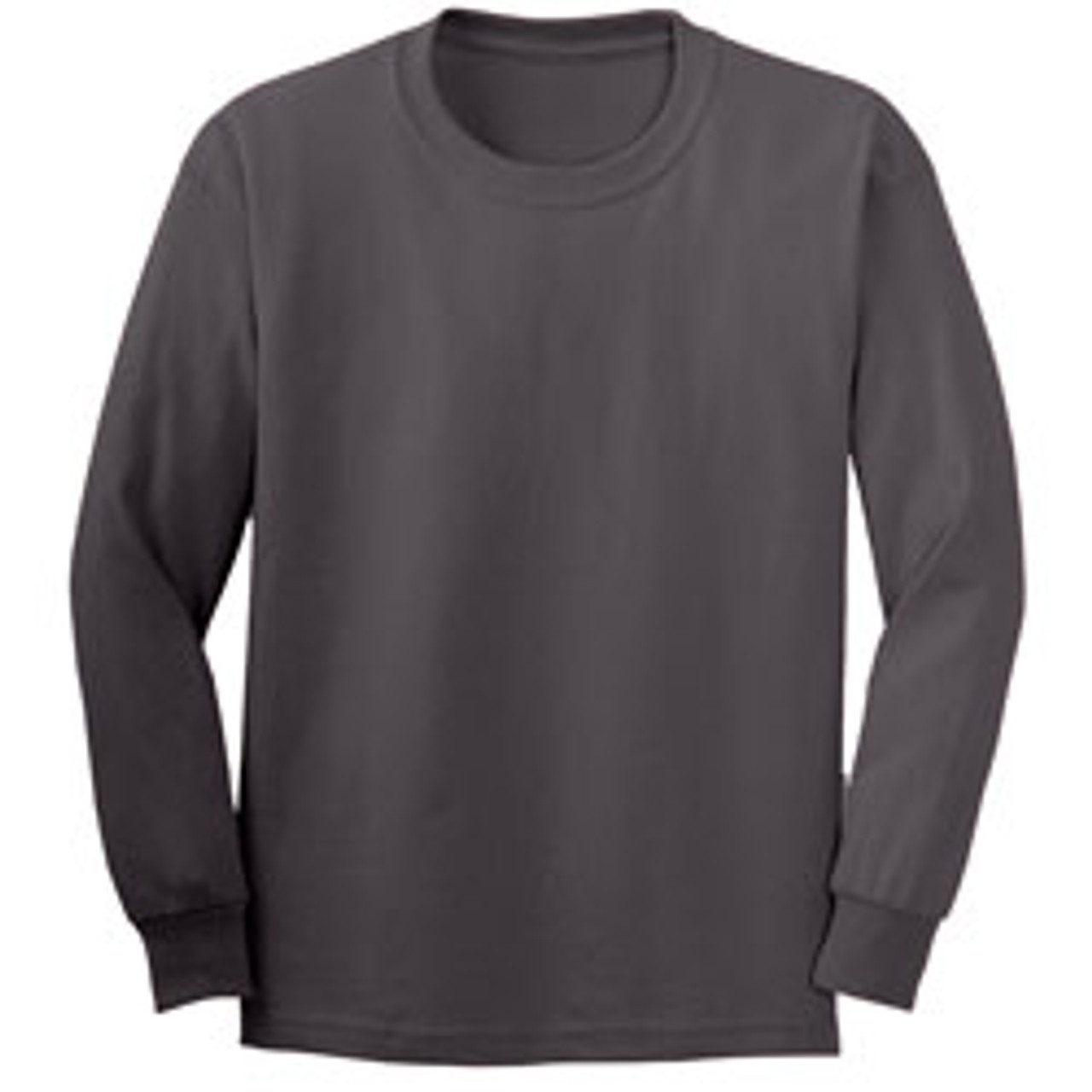 5d54d656944 Bayside 6100 - USA Made Long Sleeve Cotton T-Shirt  6100 - Black  6100 -  Charcoal ...