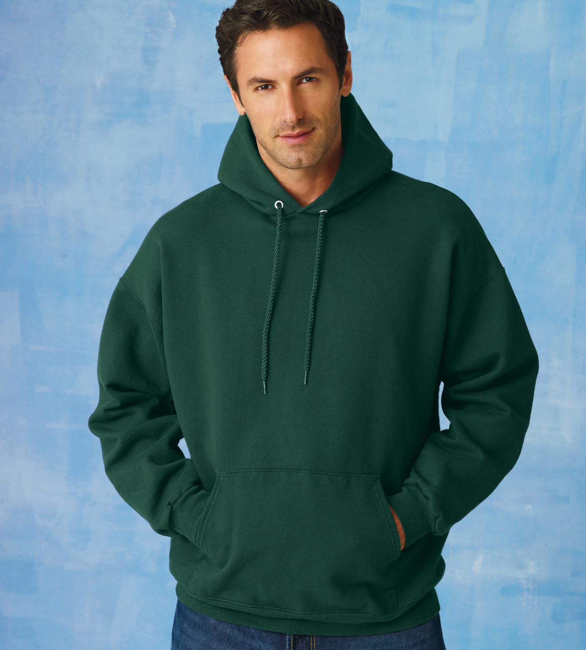 F170 Hanes Adult Ultimate Cotton Hooded Pullover Sweatshirt ... 09698fe9f
