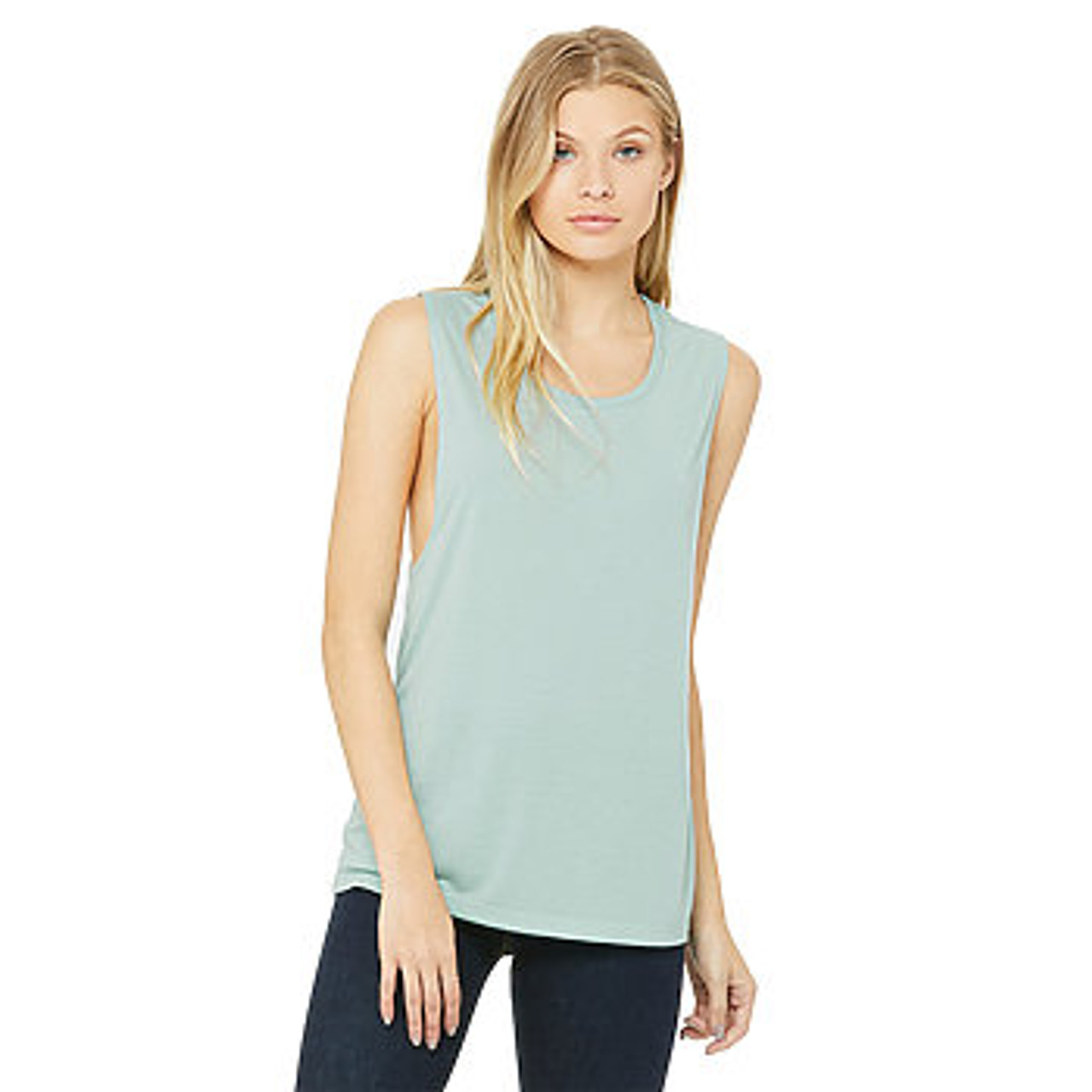 Canvas Women/'s Flowy Scoop Muscle Tank Top Shirt 8803 up to 2XL Bella