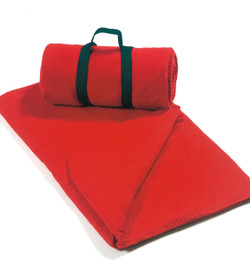 8700 Alpine Fleece Throw  (Red)  Straps shown are additional.  See #8820
