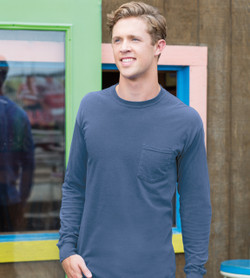 Comfort Colors 4410 - Adult Garment Dyed Long Sleeve Pocket Tee