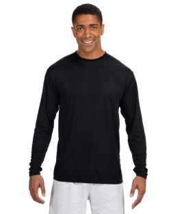 A4 N3165 - Mens Long Sleeve Cooling Performance Crew Neck T-Shirt