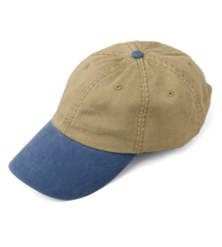 LP102 ADAMS OPTIMUM KHAKI CROWN PIGMENT DYED TWILL CAP