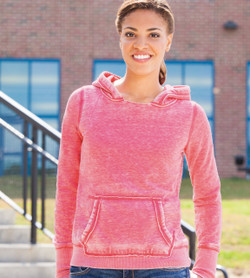 "J8912 J-America Ladies' ""Zen"" Fleece Hooded Pullover Sweatshirt"