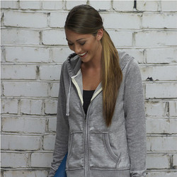 8913 J AMERICA LADIES' ZEN FLEECE FULL-ZIP HOOD