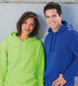 J8620 J-America Adult Cloud Fleece Hooded Pullover Sweatshirt