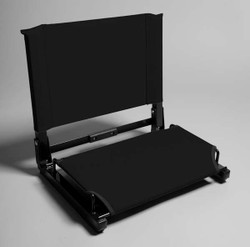 SC1 Stadium Chair Steel Frame Seat  (Black)